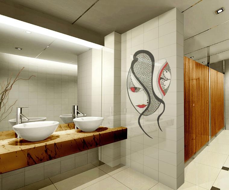 Дизайны общественных туалетов